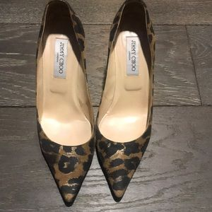 Jimmy Choo leopard print shoes good condition